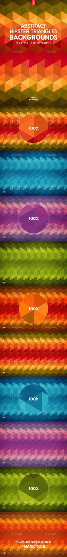 Hipster Triangles Backgrounds