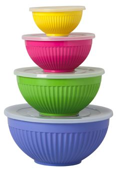 Rice dk Nestled Mixing Bowls in a Set of 4 by: Rice dk -