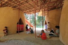 """Earthbag and Bamboo """"School Floating in the Sky"""" Offers the Best of Both Worlds - Architizer"""