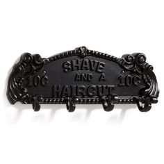Gift him with a little nostalgia, with the antique-inspired Barber Shop Iron Coat Rack.