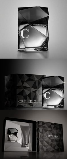 Criterio Men's Fragrance from Spain by Lavernia & Cienfuegos. Love the way the box mimics the bottle #packaging PD