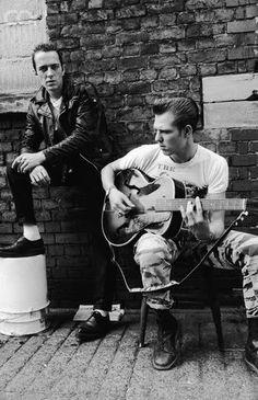 Joe Strummer & Paul Simonon by Mike Leigh