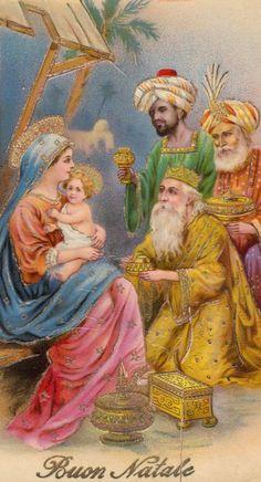 Maria toont Baby Jesus aan de Drie Wijzen uit het Oosten....................               lb xxx.
