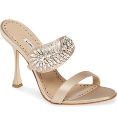 Part three: embellished wedding shoes Nordstrom Shoes, Embellished Sandals, Wedding Heels, Slingback Pump, Manolo Blahnik, Open Toe, Heeled Mules, Cow Leather, Women's Shoes
