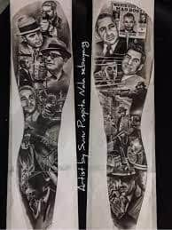 MOB Tattoo 19 Mob Tattoo, Tattoo Mafia, Chicano Style Tattoo, Vegas Tattoo, Chicano Tattoos, Tatoo Art, Best Leg Tattoos, Dope Tattoos, Badass Tattoos