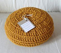 Round crochet Pillow.