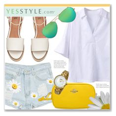 """""""YESSTYLE.com"""" by monmondefou ❤ liked on Polyvore featuring Sentubila, Ray-Ban, Bulova and yesstyle"""