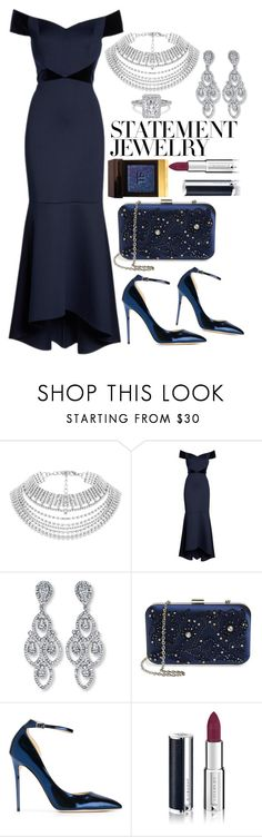 """#PolyPresents: Statement Jewelry"" by mihai-theodora ❤ liked on Polyvore featuring Eliza J, Menbur, Jimmy Choo, Givenchy, Tom Ford, contestentry and polyPresents"