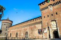 Sforza Castle, Milan - A 16th century castle with intricate decorations, including a painting by Leonardo de Vinci. Also housing an important art museum