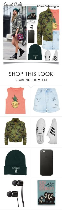 """casual outfit"" by shafsnizzler ❤ liked on Polyvore featuring BRIT*, Billabong, New Look, WearAll, adidas, Vans and Olympia Le-Tan"