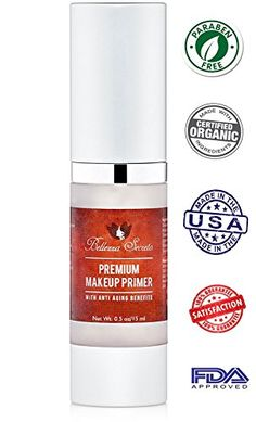 Organic Foundation Makeup Primer- anti aging, fine lines, wrinkles & pore minimizer primer - Enriched with Vitamin A, C & E for flawless skin- Waterproof makeup base - Made in The USA FDA Certified >>> Check out this great product.