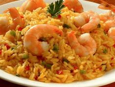 Greek Recipes, Cooking Time, Fried Rice, Seafood Recipes, Risotto, Shrimp, Food And Drink, Ethnic Recipes, Recipes With Rice