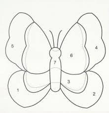 Resultado de imagem para molde de borboleta