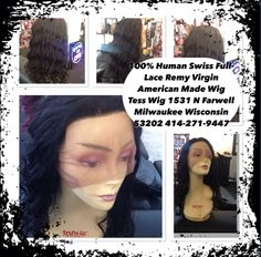 100% Human Virgin Swiss Full-Lace American Made Wigs sold in my Tess Wig a hair Boutique special price for Tax Season 2016 I been selling wigs N Hair Extensions for 25 years. I'm a local celebrity in #Milwaukee look me up I'm a Women who knows what women like want and need. Pick your color and texture silky Yaki loose curls waves these are Virgin hair no worries of color #1 your head is covered #2 they can be dyed I ship same day