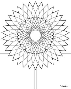 Coloring Page Sunflower Mandala Summer Flowers 3 Instant Download By MoggyHollowDesign On Etsy
