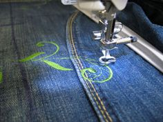 Embroidery Library Projects - Machine Embroidery on denim tricks and tips