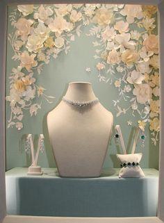 window-display - chopard - paper flowers - francesca signori
