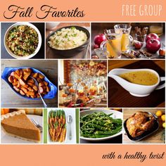 FREE healthy Fall Favorites good group! No signing up, registering, etc. Just head over to www.Facebook.com/FunFitMama and click the group link to join in!  #healthy #fall #food #pumpkin #pie #turkey #gravy #stuffing #yams #greenbeancasserole #martini #toddy #carrots #21dayfix
