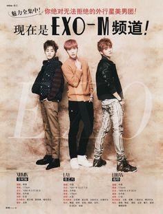 EXO-M ♡ MINA Magazine, January 2014