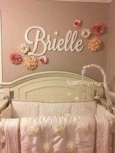 Buy Personalized Wooden Name Sign Large size Letters Baby Name Plaque PAINTED nursery name nursery decor wall art at www.babyliscious.com! Free shipping to 185 countries. 21 days money back guarantee. Big Wooden Letters, Wooden Name Signs, Wooden Monogram, Wooden Names, Wooden Wall Art, Sign Letters, Nursery Name, Girl Nursery, Nursery Decor