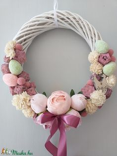 Grapevine Wreath, Grape Vines, Easter Eggs, Diy And Crafts, Spring, Handmade, Home Decor, Art, Wreaths
