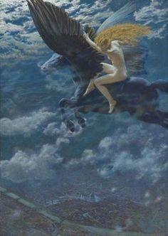 Edward Robert Hughes,Dream Idyll (A Valkyrie)