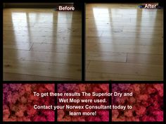 before and after with the superior dry and wet mop from Norwex  http://AngelaAnderson.Norwex.biz