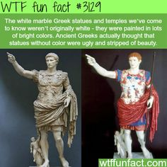How the Greek statues actually looked -  WTF fun facts