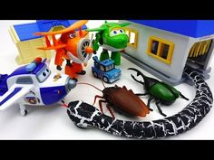 Go Go Super Wings, Poli Town is Under Attack by Monster Bugs - YouTube