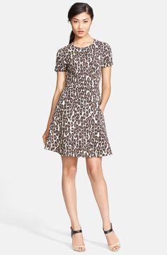 kate spade 'autumn leopard' fit & flare dress | Nordstrom