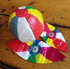 Grace Bonney likes Japanese Kamifusen. I always knew she had good taste! Icebreaker Activities, Team Building Activities, Japanese Toys, Japanese American, Sunset Party, Beach Party, Japanese Paper Lanterns, Paper Balloon, Origami
