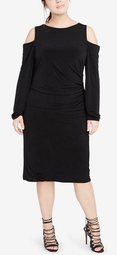 Plus Size Cold-Shoulder Sheath Dress