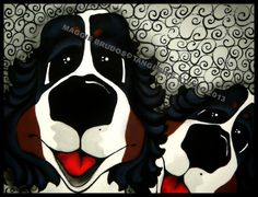 MAGGIE BRUDOS bernese mountain Dog Original by tangerinestudio, $58.00
