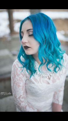 Carribean Sea Blue Hair. #joico #mermaidhair #dawsoncreek #skinovations #hairstylist #salon #spa @jerrikurtz