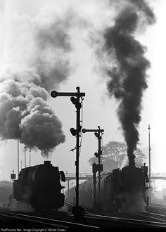 RailPictures.Net Photo: - Deutsche Bundesbahn Steam 2-10-0 at Ottbergen, Germany by D. Michel Costes