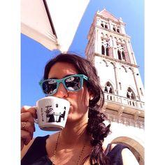 saucyjac instagram. #trogir #croatia #cappuccino #venetian #medieval #cathedral #eurotrip #europe #travel