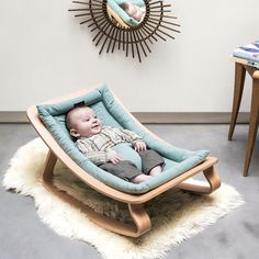 Charlie Crane Levo Aruba Blue Babywippe aus Holz in türkis (ab Geburt) - Eco-friendly baby bouncer in our baby onlineshop www. Eco-friendly baby bouncer in our baby onlineshop www. Baby Bouncer, Baby Bedroom, Baby Room Decor, Charlie Crane, Charlie Charlie, Baby Rocker, Nursery Rocker, Blue Cushions, Baby Blog