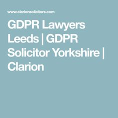 The Clarion GDPR team, based in Leeds and lead by partner Matthew Hattersley, deals with all data protection issues for both public and private organisations. Gdpr Compliance, Data Protection, Lawyers, Leeds, Yorkshire, Cyber, Lawyer, Yorkshire Terrier Puppies