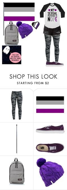 """""""Asexual/Demisexual Pride"""" by katiegirlhere ❤ liked on Polyvore featuring Vans, Eastpak and Coal"""