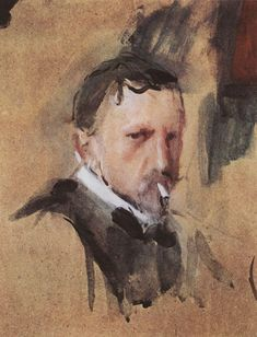 Self Portrait, by Valentin Serov (Russian, (1865-1911)