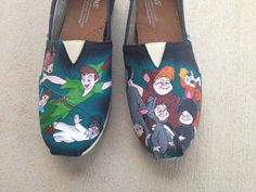 Personnalisé peint à la main chaussures - Peter Pan
