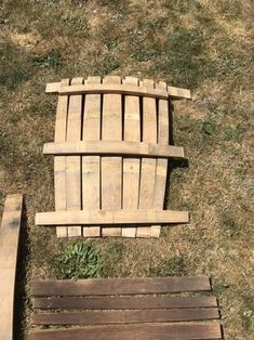 Wine Barrel Adirondack Chair: 10 Steps (with Pictures) Wine Barrel Chairs, Wine Barrel Furniture, Wine Barrels, Rustic Chair, Rustic Furniture, Lawn Furniture, Furniture Plans, Handmade Furniture, Furniture Design