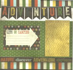 2 page Scrapbooking Layout Kit - Lets Go Camping by CropALatteToGo on Etsy