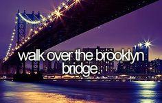✔ bucket list: walk over the brooklyn bridge.
