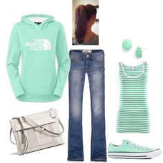 Sporty! by honeybee20 on Polyvore featuring VILA, Converse, Coach, Kendra Scott and Hollister Co.