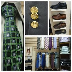 A collection of the formal dresswear at Winston's Men's Wear in Goderich, Ontario