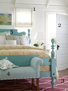 5 Ways to Get This Look:  Pretty Pastel Bedroom