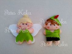Tinkerbell e Peter Pan by artes kaka, via Flickr