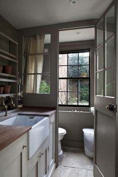 A downstairs toilet is usually the smallest room in the home, but that's no excuse for failing to make a statement with your cloakroom. Transform the toilet by using these design ideas as inspiration. Boot Room, Utility Room, Room Makeover, Downstairs, House, Small Toilet Room, Small Utility Room, Small Rooms, Downstairs Toilet