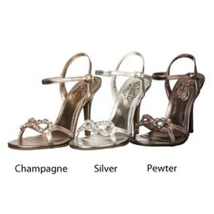 @Overstock - These metallic pumps from Kenneth Cole are jewel embellished and feature a faux-leather construction. A 4-inch heel combines with an open design to complete these pumps. http://www.overstock.com/Clothing-Shoes/Kenneth-Cole-Womens-Closing-Act-Metallic-Pumps/6477907/product.html?CID=214117 $43.99